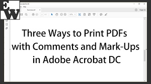 printable job application for ups three ways to print pdfs with comments and mark ups in adobe acrobat
