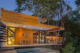 contemporary style architecture la mid century modern home with trees growing through it