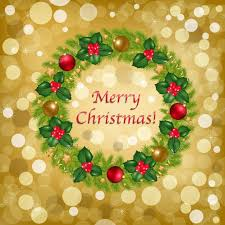 christmas background with wreath u2014 stock vector adamson 4328994