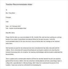 letters of recommendation for teacher 26 free sample example