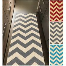 Chevron Runner Rug Chevron Zig Zag Non Slip Rubber Backed Runner Rug 1 8 X 4 11 1