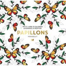 Coloriage adulte Marabout Le petit livre de coloriage  Papillons