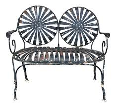 1930 u0027s french sunburst bench by francois carre chairish