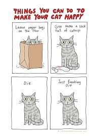 Cartoon Cat Memes - you can do to make your cat happy funny cartoon
