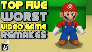 top five worst video game remakes youtube