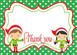 christmas thank you cards christmas thank you card