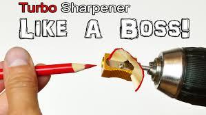 turbo pencil sharpener life hack youtube