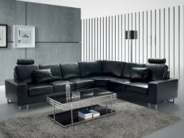Black Sofa Sectional Furniture Interesting Living Room Interior Using Large Sectional