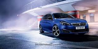 peugeot car showroom 308 gt