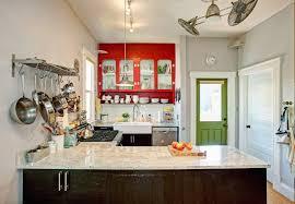 kitchen design ideas pot hanger rack with lights island light