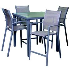 Aluminium Bar Table Outdoor Bar Sets Aluminium Bar Set Segals Outdoor Furniture