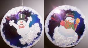 joyful snowman cd tree ornament