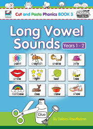 cut and paste phonics book 3 long vowel sounds ready ed