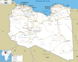 Algeria On Map Detailed Clear Large Road Map Of Libya Ezilon Maps
