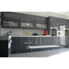 Flat Kitchen Cabinets Dkbc High Gloss Acrylic Grey Flat M32 Kitchen Cabinets And