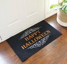 decorative floor mats home happy halloween door mat floormatshop com commercial floor