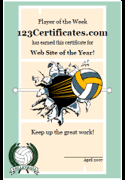 free printable sports certificates sports awards certificate