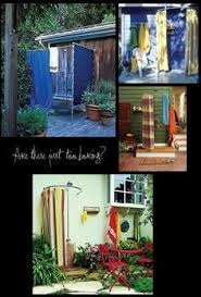 How To Build An Outdoor Shower Enclosure - diy making an outdoor shower elle decor plumbing and outdoor