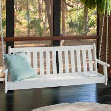 polywood vineyard recycled plastic 5 ft porch swing hayneedle