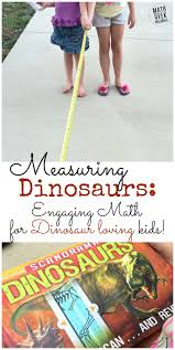measuring dinosaurs engaging measuring activity for kids