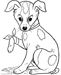 cute puppy coloring pages to print kids coloring
