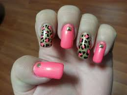 pink and gold leopard print nail art youtube