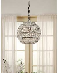 Circular Crystal Chandelier Get The Deal Abbyson Iron And Crystal Globe Chandelier Crystal