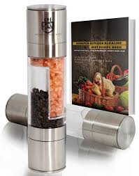 amazon com stainless steel salt and pepper grinder combo set by
