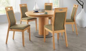 contemporary dining table wooden round et558 alfons