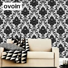 Black Damask Wallpaper Home Decor by Online Get Cheap Black Paper Roll Aliexpress Com Alibaba Group