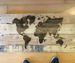 World Map On Wood Planks by Extra Pallet Wood Laser Engraved Map 4 Steps With Pictures