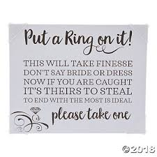 what do you put on a bridal shower registry a ring on it bridal shower sign