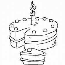 magnificent birthday cake coloring pages printable coloring