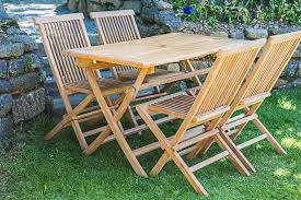 teak patio table and chair set garden furniture land