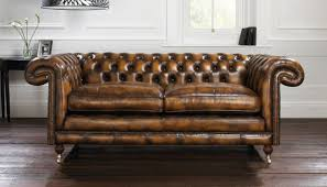 Antique Couches Furniture Antique Brown Leather Chesterfield Sofa For Living Room