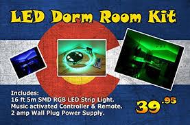 led lights for dorm amazon com led strip light dorm kit music controlled and sound