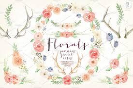 flower wreath watercolor flower wreath illustrations creative market