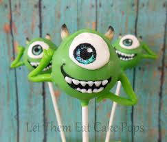 Halloween Monster Cakes by Monster U0027s Inc Mike Wazowski Cake Pops Pint Sized Baker