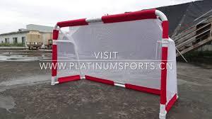 Soccer Net For Backyard by Aluminum Backyard Folding Portable Soccer Goal By Platinum