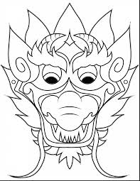 good chinese dragon mask coloring with chinese dragon coloring