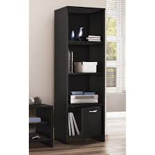 Whalen Furniture Bookcase Whalen Santa Fe 5 Shelf Tower Bookcase Warm Ash Finish Walmart Com