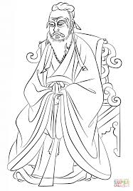 confucius kongzi coloring page free printable coloring pages