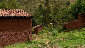 adobe houses adobe house in peru in a andean village in peru near cusco stock