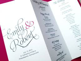sided wedding program template template one sided wedding program template