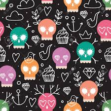 skull wrapping paper colorful vector background for day of the dead