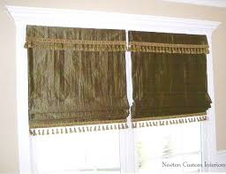 Roman Shades Valance Roman Shades With Valance Overlay And Trim Newton Custom Interiors