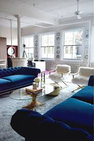 home decor blue sofa inspiration living in color print
