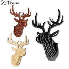 wooden animal wall 3d puzzle wooden diy model wall hanging deer elk wood animal