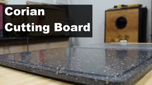creating a corian cutting board with a juice groove youtube