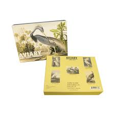 aviary audubon boxed note cards new york historical